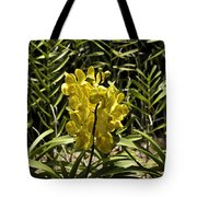 Beautiful Yellow Flowers Inside The National Orchid Garden In Singapore Tote Bag