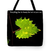 Beauty And Confucius Tote Bag