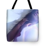 Beauty Photo Of A Woman In Shining Blue Settings Tote Bag