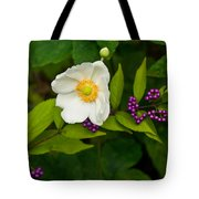 Beautyberry And Anemone 2 Tote Bag