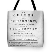 Beccaria: Title Page Tote Bag