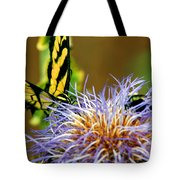 Bee And The Butterfly Tote Bag