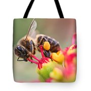 Bee At Work Tote Bag