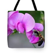 Bee In The Pink - Greeting Card Tote Bag