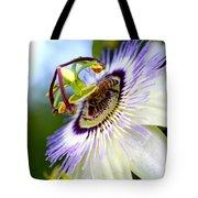 Bee On A Nigella Tote Bag