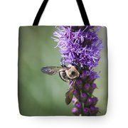 Bee On Gayfeather Squared 2 Tote Bag