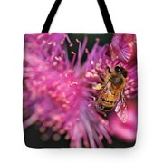 Bee On Lollypop Blossom Tote Bag