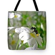 Bee On Primrose Tote Bag