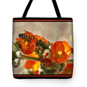 Bee On Red Flower 4 Tote Bag