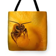 Bee On Squash Flower Tote Bag
