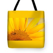 Bee On Sunflower Tote Bag