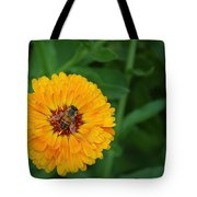 Bee On Yellow Flower Tote Bag
