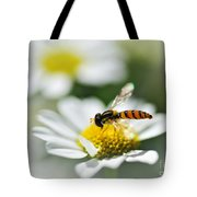 Bee With Rainbow Wings Tote Bag