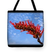 Bee With Red Flower 1 Tote Bag