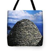 Beehive Huts At The Coast, Skellig Tote Bag by The Irish Image Collection