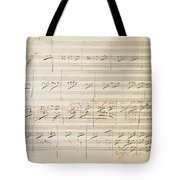 Beethoven Manuscript, 1806 Tote Bag by Granger