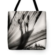 Behind The Petals Black And White Tote Bag