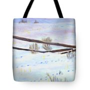 Being The Fence Tote Bag