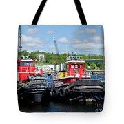 Belfast Tugboats Tote Bag