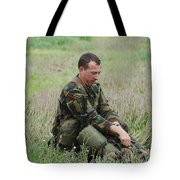 Belgian Paratroopers Red Berets Tote Bag