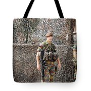 Belgian Soldier On Guard Tote Bag