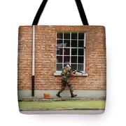 Belgian Soldiers On Patrol Tote Bag