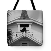 Bell Tower In Black And White Tote Bag