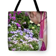 Belle In The Garden Tote Bag
