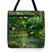 Below The Bridge Is Another World Tote Bag