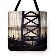 Ben Franklin Bridge Tote Bag