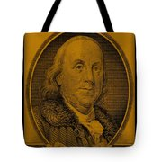 Ben Franklin In Orange Tote Bag