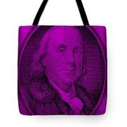 Ben Franklin In Purple Tote Bag
