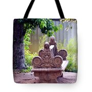 Bench By The Lake Tote Bag