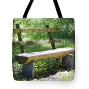 Bench Made Of Wood Tote Bag
