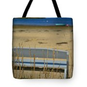 Bench On The Beach Tote Bag