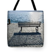Bench With Shadow Tote Bag