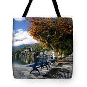 Benches With Shadow Tote Bag