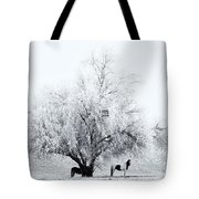Beneath A Frosty Canopy Tote Bag