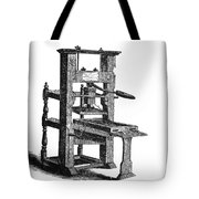 Benjamin Franklins Printing Press Tote Bag