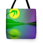 Bent Palm Sunrise Tote Bag