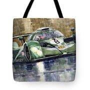 Bentley Prototype Exp Speed 8 Le Mans Racer Car 2001 Tote Bag by Yuriy  Shevchuk