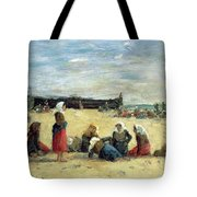 Berck - Fisherwomen On The Beach Tote Bag