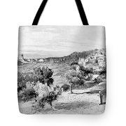 Bethlehem City In Black And White Tote Bag