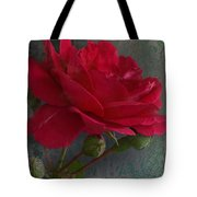 Betty's Red Rose II With Decorations Tote Bag