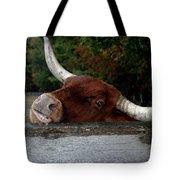 Beware Smiling Bull Tote Bag