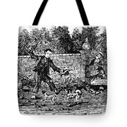 Bewick: Boy With Dogs Tote Bag