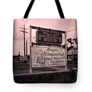 Bible And Bookstore- Nails Tote Bag