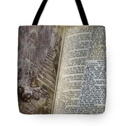 Bible Pages Tote Bag