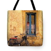Bicycle And Window In France Tote Bag