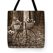 Bicycle Built For Three Tote Bag